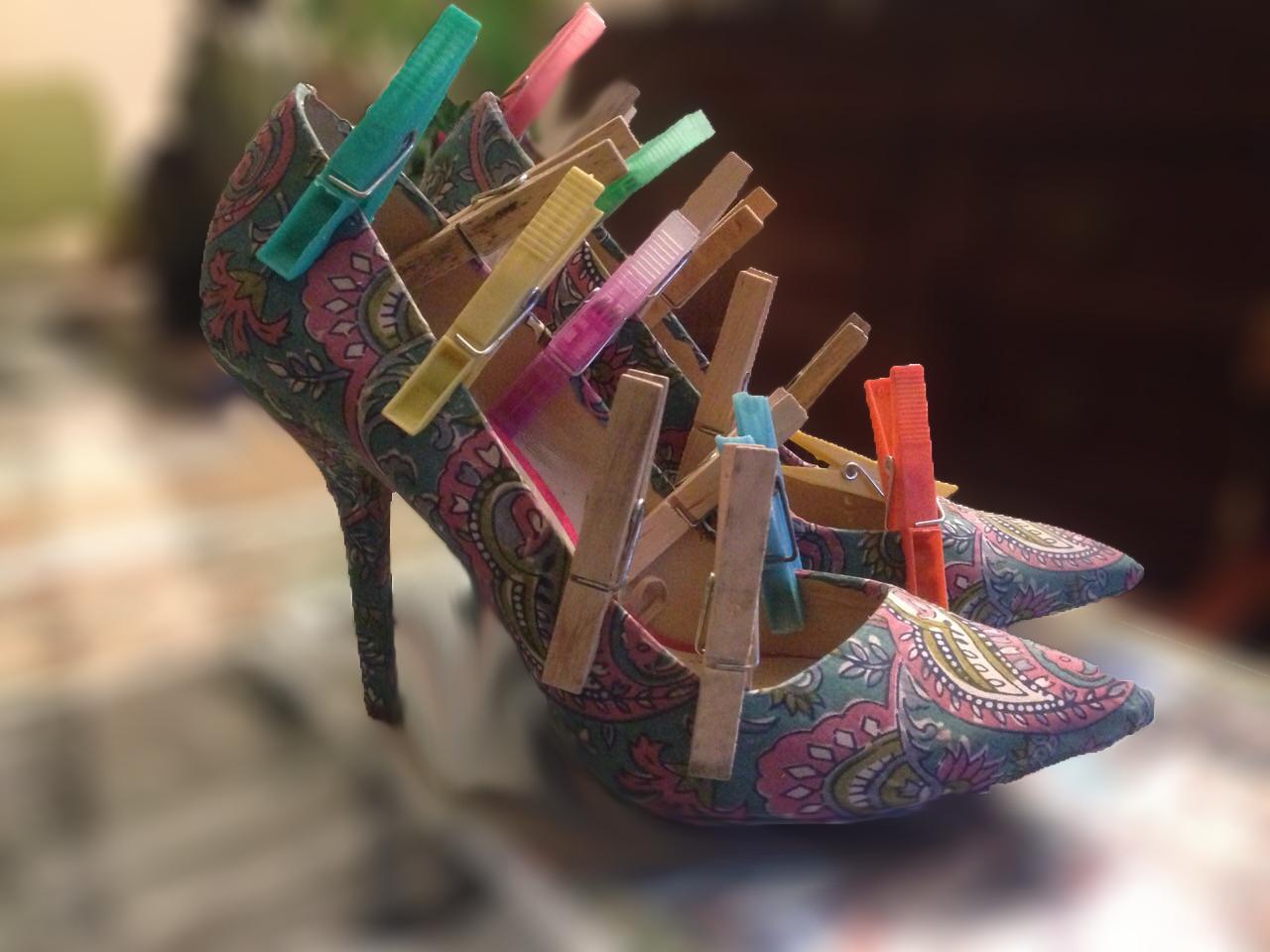 C mo forrar zapatos de tac n con telasan suavizantes - Zapateros de tela ...