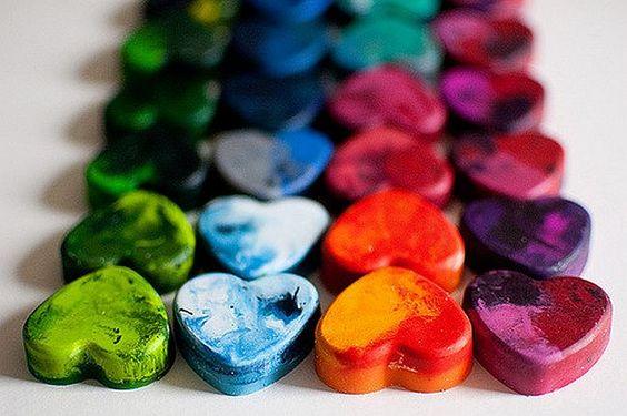reciclar las ceras de colores