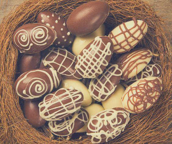 Receta de huevos de Pascua de chocolate
