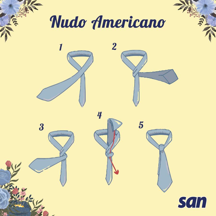 cómo hacer nudo americano