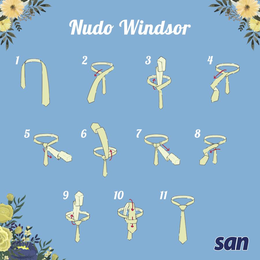 cómo hacer nudo windsor