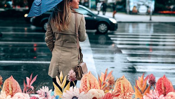ideas para vestir con lluvia